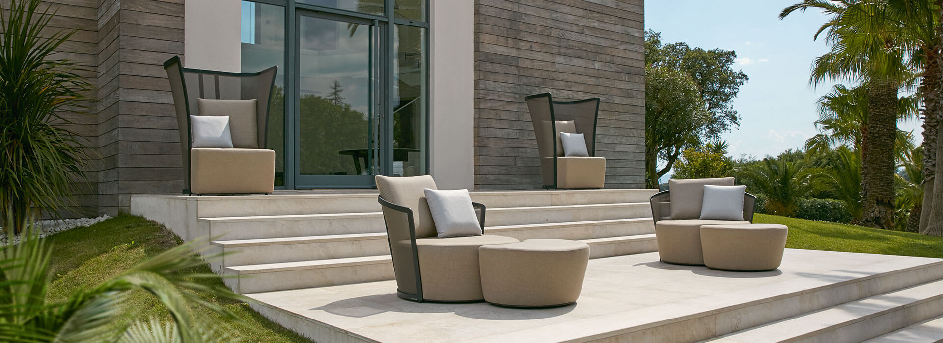 Cielo Collection Lounge Chairs and Footstools