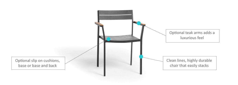 Metris Dining Armchair