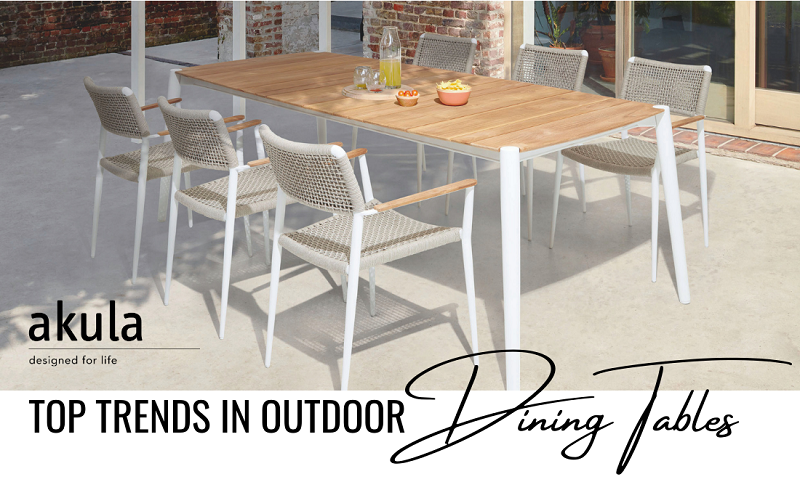 Outdoor Dining Table Trends